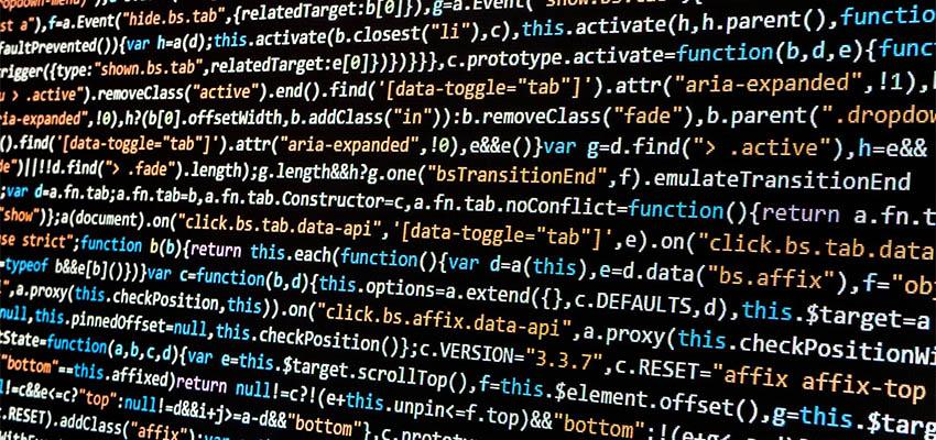 close-up of computer code